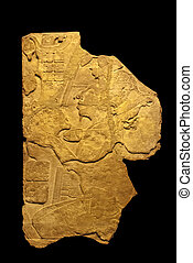 Précolombien, sculpture, fragment, Mexique