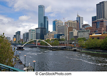 melbourne - yarra river in the city of melbourne