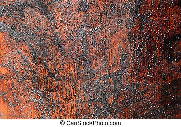 Crude oil - Destroyed surface texture with oil leaking...
