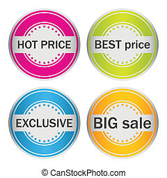 speial stickers for your products