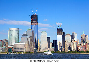 World Financial Center Skyline in Manhattan - World...