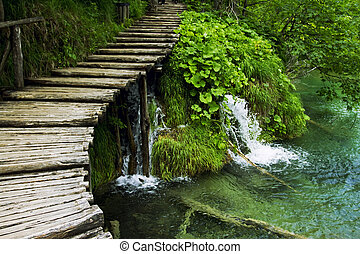 Plitvice National Park - Lakes and waterfalls in national...