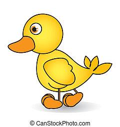 dessin animé, caoutchouc, canard