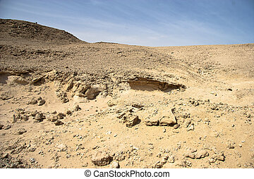 Landscape of Desert and rocks near Hurghada, Egypt