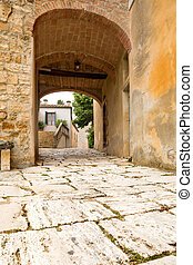 Tuscan doorway - Medieval doorway in the Tuscan village...