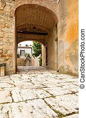 Tuscan doorway - Medieval doorway in the Tuscan village...