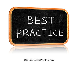 best practice - Banner with blackboard with text best...