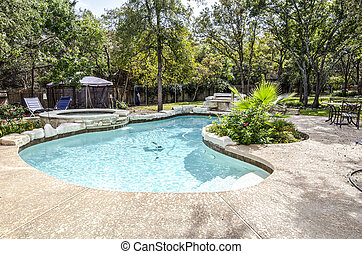 Swimming Pool in Backyard - Upscale swimming pool and hottub...