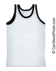 Tank top isolated on white - White tank top without a...