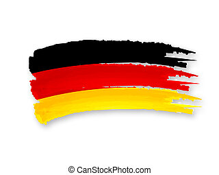 German flag - Illustration of Isolated hand drawn German...