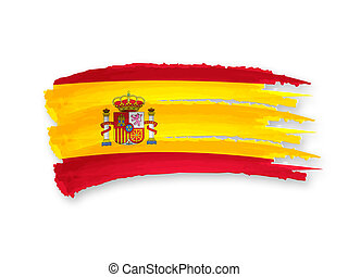 Spanish flag - Illustration of Isolated hand drawn Spanish...