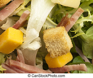 closeup of a salad