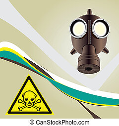 Background toxic danger with a toxic symbol of danger....