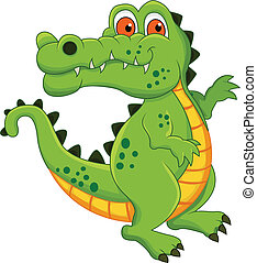 crocodile cartoon - vector illustration of crocodile cartoon