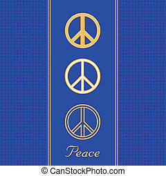 Golden Peace Symbols - International symbols for peace in...