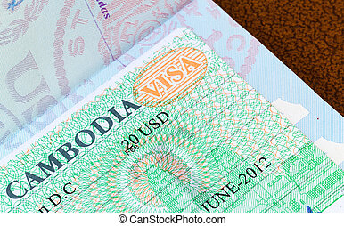 Visa for Cambodia in US passport - Visa in a USA passport...