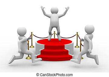 podium on white background. Isolated 3D image