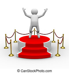 podium on white background Isolated 3D image