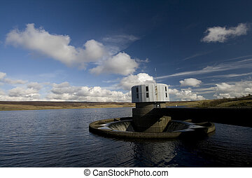 Outflow at Grimwith reservoir - Water outflow at Grimwith...
