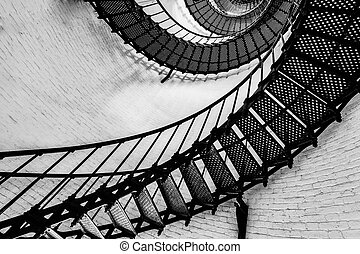 St. Augustine Lighthouse Staircase - View of the spiral...