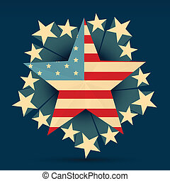 creative american flag with stars around it