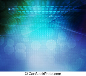 Blue Party Abstract Background