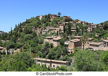 Mediterranean village of Deja - Panoramic view of the...