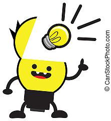 bulb lamp - cartoon bulb lamp