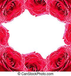 Framework from roses - Framework made from fresh red roses