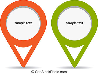 Pin labels - Vector pin labels set
