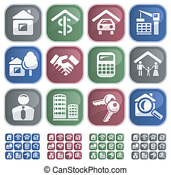 Real estate buttons - Real estate button set