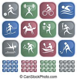 Sport buttons - Sport button set