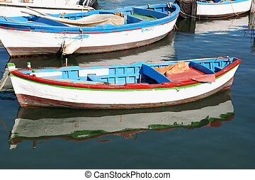 Old painted boats