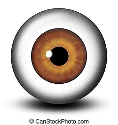 Realistic Brown Eyeball - Illustration of a striking big...