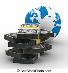 Global business Isolated 3D image on white