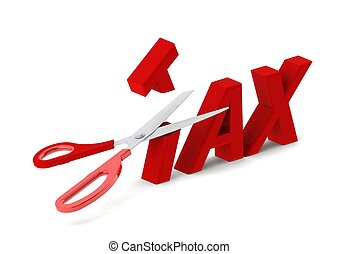 Cut tax - Rendered artwork with white background