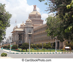 Landmark monuments and iconic structures of garden city of...