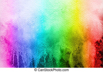 watercolor background color of the rainbow