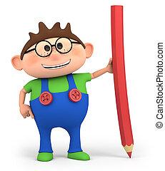 Junge, Bleistift