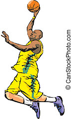 basketball player - slam dunk, nba basketball league