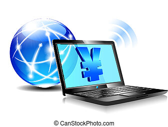 Banking online Pay by internet Yen - Banking, payment...