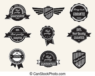 Retro vintage Premium Quality and Guarantee Labels