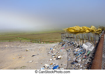 Garbage dump and green distances - dump on the brink of the...