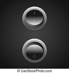 circle toggle power switches - vector circle toggle power...