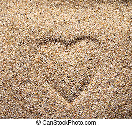 Heart       - Heart on the sand