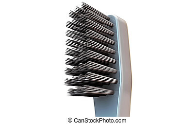 toothbrush head isolated on white background