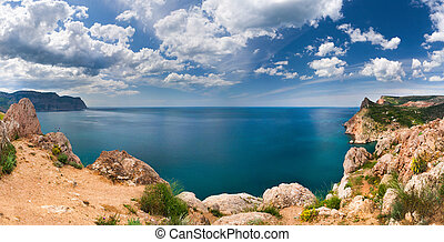 Beautiful summer landscape in the Crimea