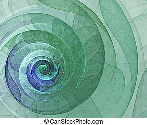 Abstract green spiral fractal
