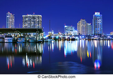 St. Petersburg, Florida - Skyline of St. Petersburg, Florida