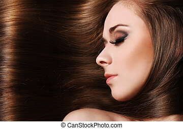 Young woman with beautiful hair - Young woman with beautiful...